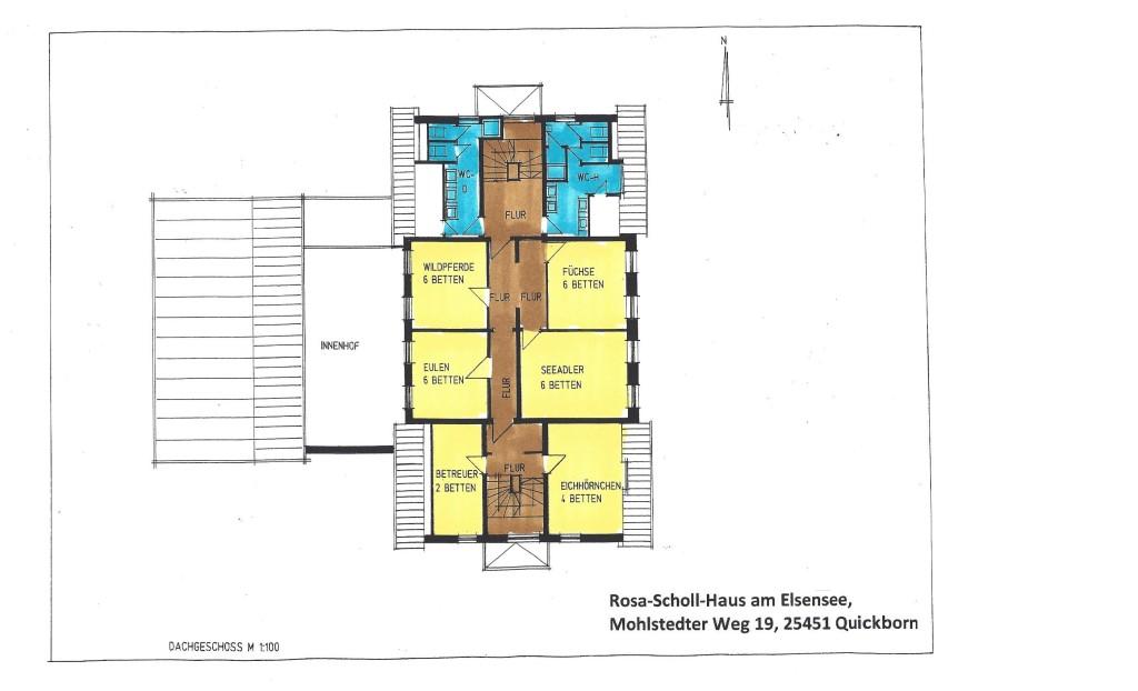 Grundriss Rosa-Scholl-Haus DG farbig